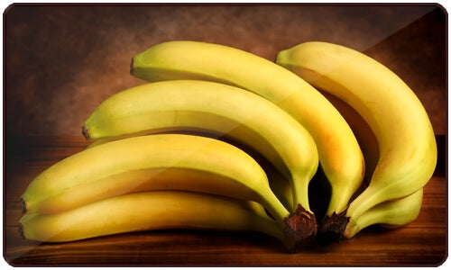 Bananas are high in fiber, carbohydrates, potassium, vitamin A, vitamin C, and tryptophan.