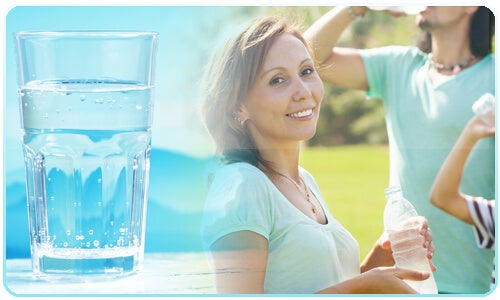 The ideal amount of water you should be drinking is six to eight glasses a day.