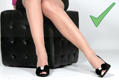 Don't cross your legs! Sitting with your legs can slow blood flow to and from your legs.