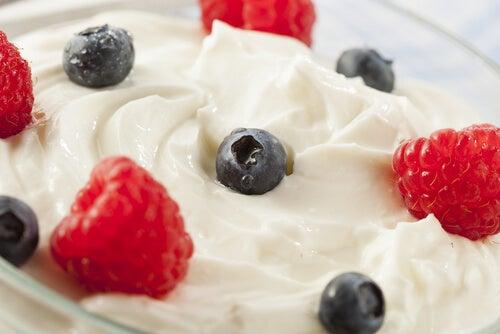 Fruit and yogurt