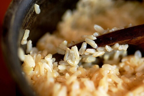 Whole grain rice-sweetbeetandgreenbean