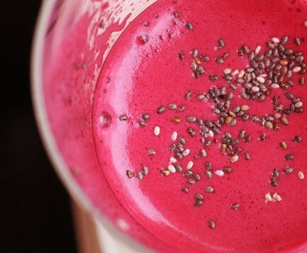Beet juice with chia seeds