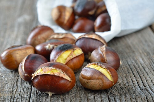 Indian horse-chestnuts.