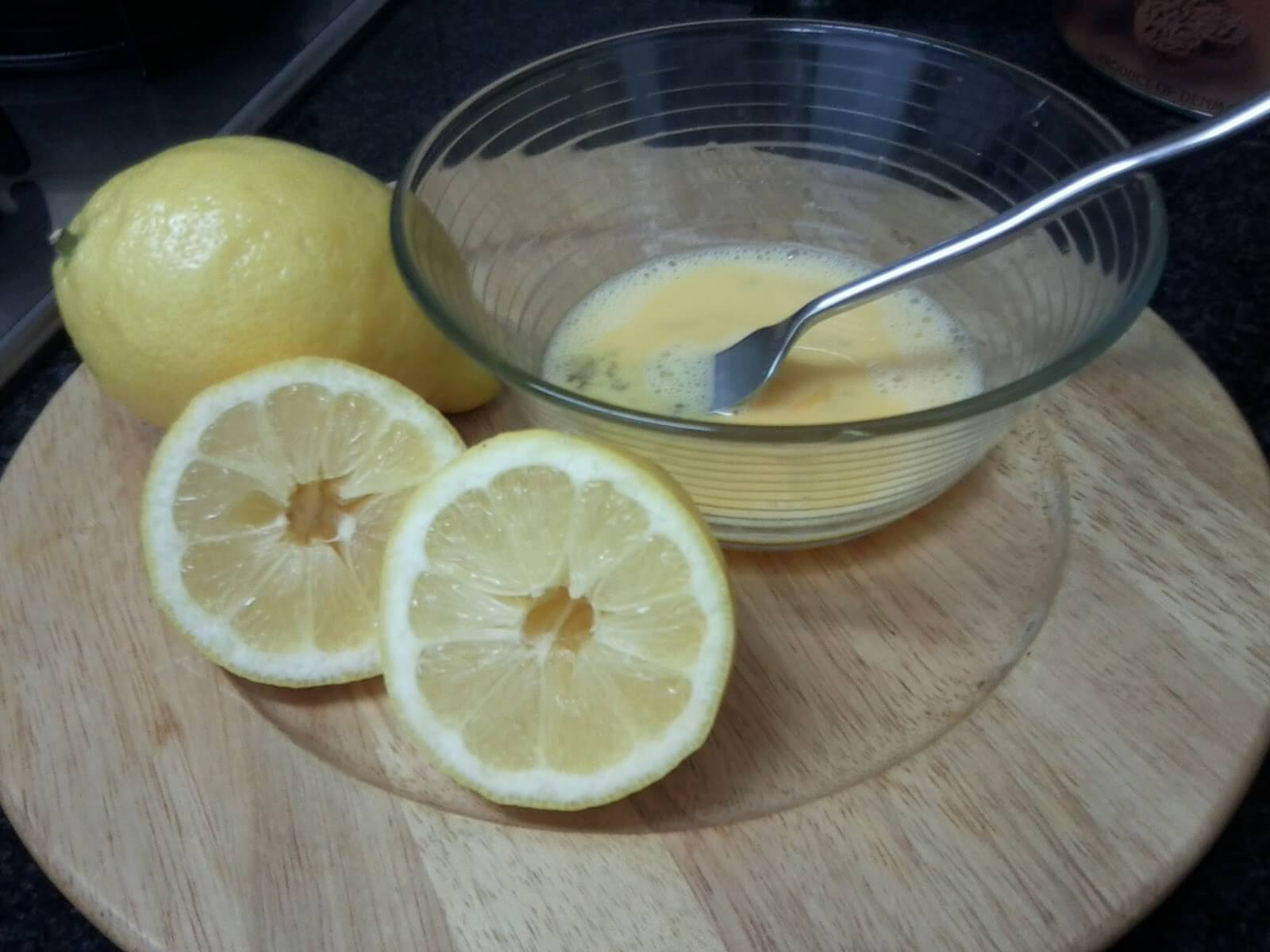 These are some of the ingredients for the lemon pie.