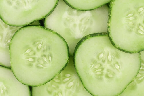 Cucumber diuretic for eye bags