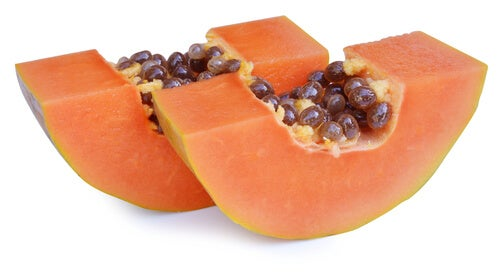Healthy plant foods also include papaya.