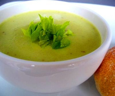 lose weight with celery by making celery soup
