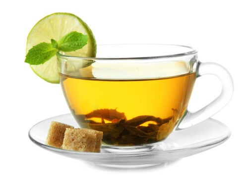 Cup of green tea to cleanse the liver