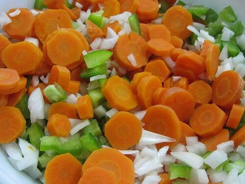 havuç ve salatalık