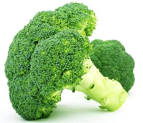 Two pieces of broccoli.