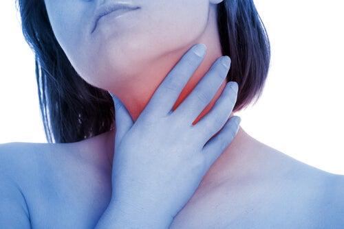 Girl throat