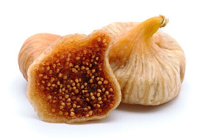 Dried figs cut into halves smoothies for constipation