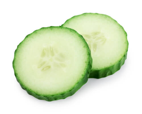 Cucumber bags under eyes