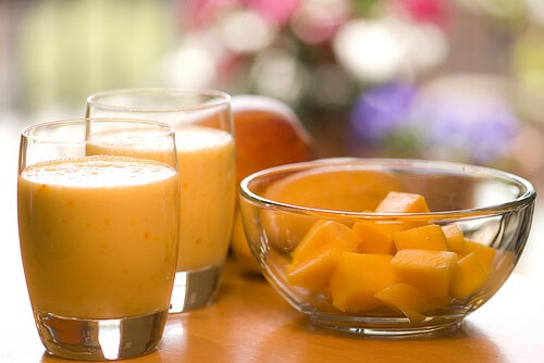 Healthy mango smoothie