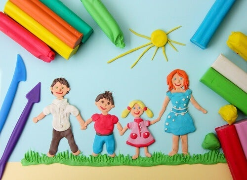 Plasticine family picture