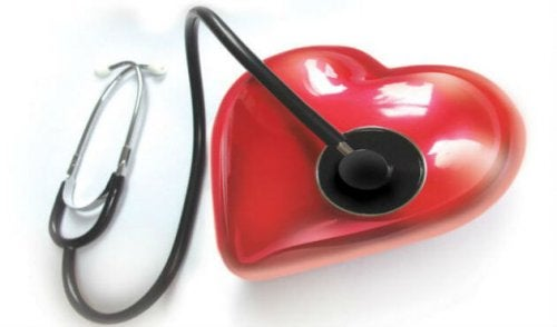 stethoscope checking a heart