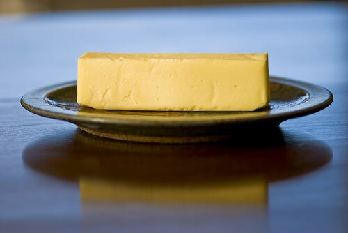 A plate of butter.
