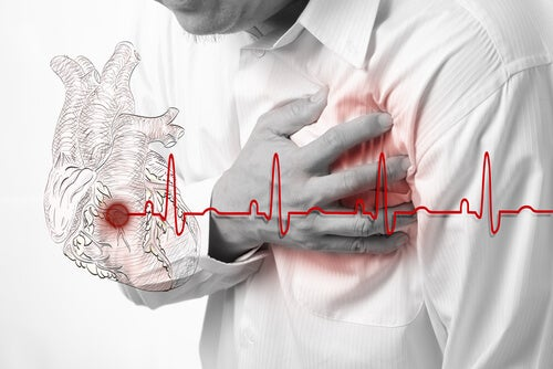 Man suffering symptoms of angina