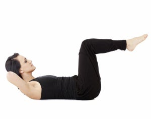 The abdominal routine should include crunches