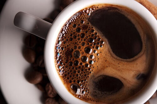 Cup of black coffee fresh nutritious and satisfying drinks