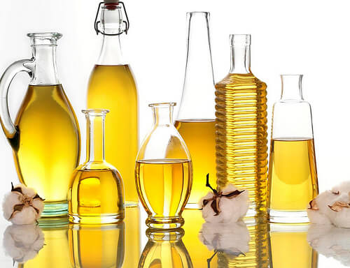 oils in various bottles