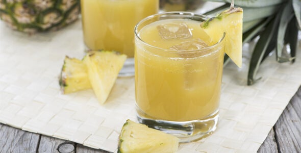 Pineapple juice to be used in the pineapple and aloe vera diet