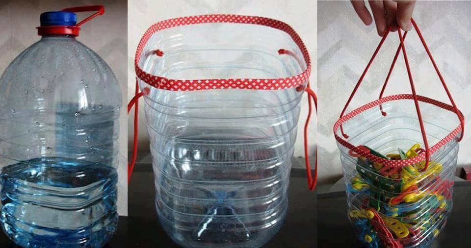 recycling plastic bottles for clothespins