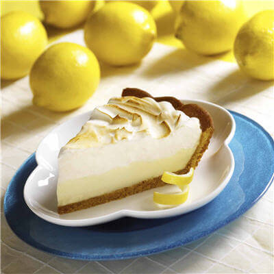 Slice of homemade lemon pie