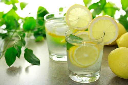 Warm water with lemon in the morning