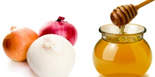 Onion and honey for hair health