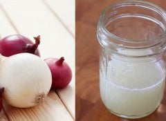 Onion juice for your hair