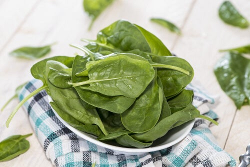 Spinach provides great energy levels