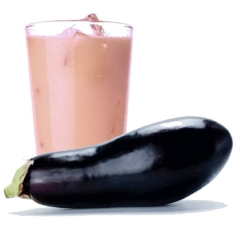 lose weight with eggplant and lemon smoothie