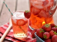 1 strawberry water