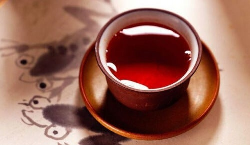 Reducing abdominal fat with tea