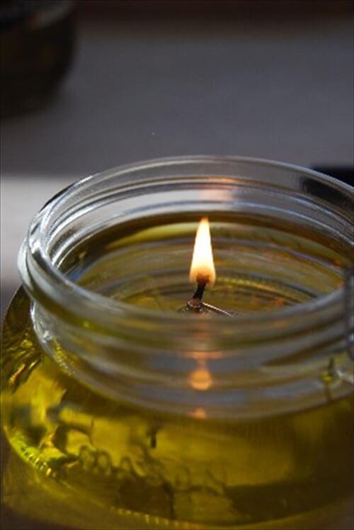 DIY olive oil candle