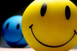 Some happy stress balls.