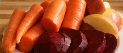 Carrot, beet, apple juice