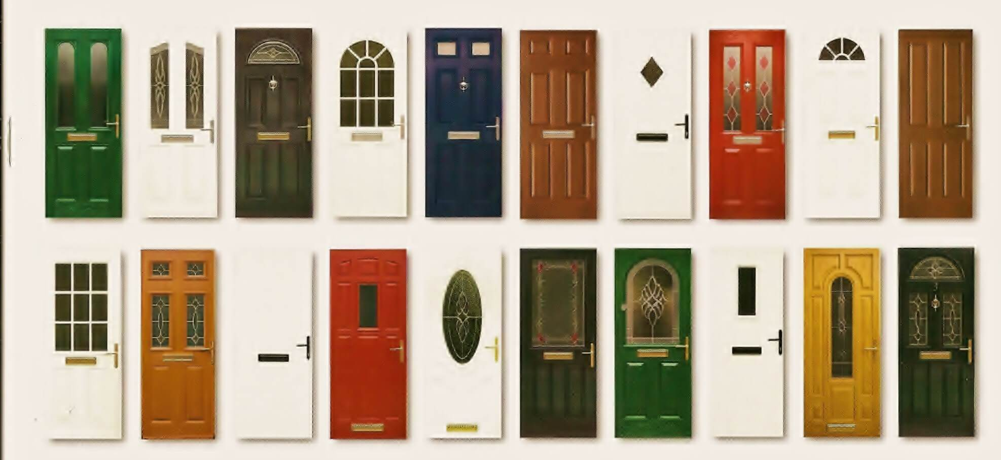 The green old-style door of the 10 door personality test