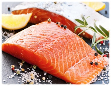 Salmon is one of the foods for better hair