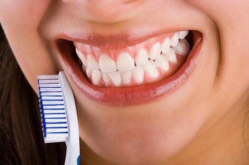 2 brush teeth