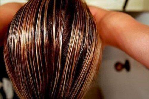 2 damp hair