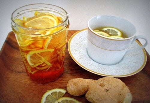 infusion of lemon and ginger to lose weight