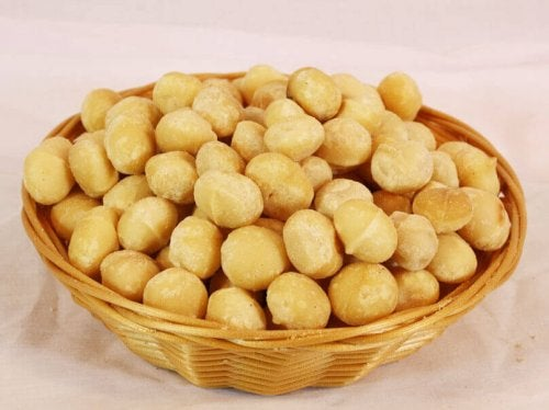 Bowl of macadamia nuts