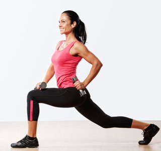 lunges with weights to tighten your glutes