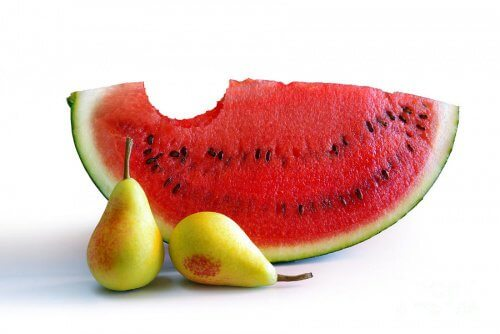 Watermelon with pears