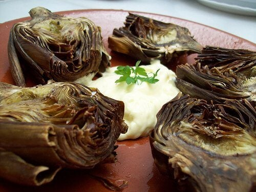 roasted artichokes