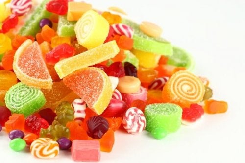 Candies full of sugar foods that make you age faster