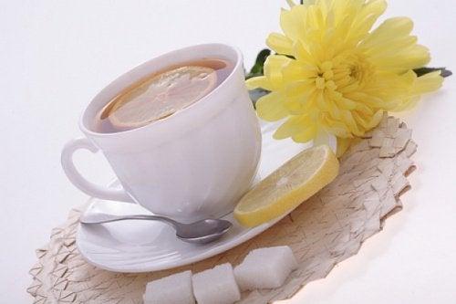 lemon peel tea