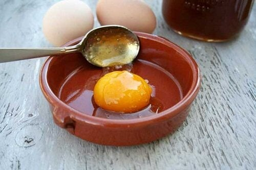 Egg yolk in a dish